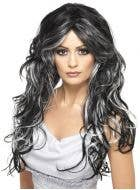 Gothic Bride Black and White Halloween Wig