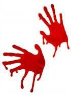 Blood Dripping Halloween Handprint Decorations