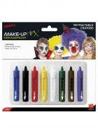 Coloured Face Paint Sticks Pack of 8