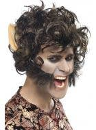 Werewolf Adult's Halloween Costume Wig with Ears