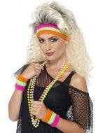 Rainbow Neon Sweatbands 1980's Costume Accessory
