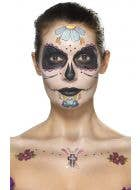 Day Of The Dead Face Tattoo Transfers Makeup Kit