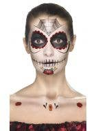 Women's Sugar Skull Day of the Dead Costume Makeup Kit