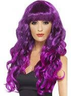 Glamour Siren Curly Purple and Black Wig