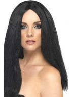 Star Style Long Black Straight Costume Wig