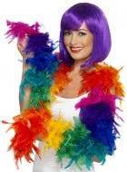 Rainbow Fluffy Feather Boa Costume Accessory