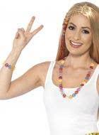 1960's Multicoloured Peace Sign Jewellery Set