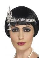 1920's Flapper Silver Jewel Headband