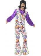 Groovy 1960's Men's Fancy Dress Hippie Costume