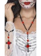 Day of the Dead Rosary Bead Set Costume Accessory
