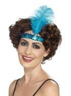 Flapper Aqua Blue 1920's Women's Headband