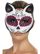 Glitter Sugar Skull Mexican Cat Skull Mask