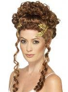 Gold Laurel Wreath Metal Headpiece Costume Accessory