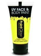 Large Size Neon Yellow Blacklight Reactive Costume Makeup Main Image