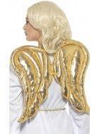 Metallic Gold Angel Wings Costume Accessory