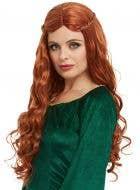 Medieval Princess Women's Curly Auburn Costume Wig