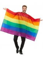 Pride Rainbow Flag Adult's Poncho Costume Accessory