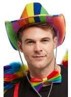 Rainbow Striped Cowboy Hat Costume Accessory