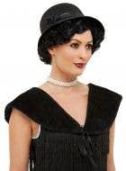 1920's Black Flapper Shawl and Hat Accessory Set