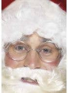 Silver Wire Framed Father Christmas Glasses Main Image