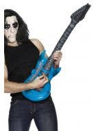 Blue Inflatable Electric Guitar 80's Costume Accessory Main Image