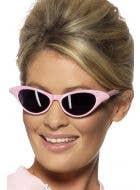 Women's Pink 1950's Costume Sunglasses Main Image