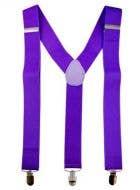 Neon Purple Suspenders Costume Accessory
