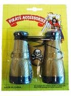Pirate Black and Gold Binoculars Costume Accessory