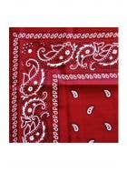 Red Paisley Print Wild West Cowboy Bandanna