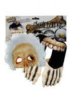 Billy Bob Skeleton Halloween Costume Kit with Mask, Hair, Feet And Teeth
