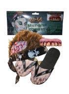 Billy Bob Zombie Halloween Costume Kit with Hair, Feet And Teeth