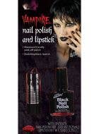 Vampire Black Nail Polish and Lipstick Set
