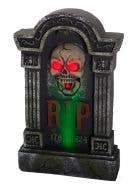 Move, Sound and Light Gravestone RIP Halloween Decoration View 1