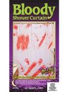 Blood Splattered Halloween Shower Curtain Decoration 1