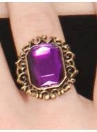 Jeweled Purple Halloween Costume Ring