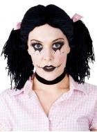 Raggedy Ann Women's Black Rag Doll Wig