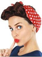 Rosie the Riveter Brown Wig with Scarf