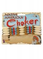 Beaded American Indian Necklace Costume Accessory