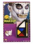 Skull Halloween Makeup and Earring Costume Accessory Kit