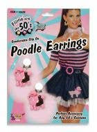 50's Retro Pink Poodle Earrings Image 1