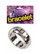 1970's Disco Fever Silver Bangle Costume Accessory