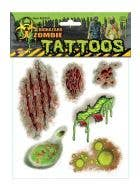 Biohazrd zombie temporaty wound tattoos Halloween special FX