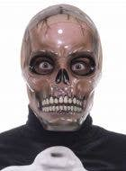 Men's Creepy Transparent Skull Halloween Costume Mask