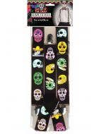 Sugar Skull Printed Day Of The Dead Costume Suspenders Halloween Accessory