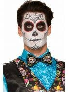 Sugar Skull Printed Bow Tie Costume Accessory
