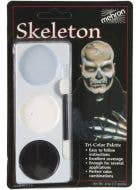 3 Colour Skeleton Halloween Face Paint Makeup Palette