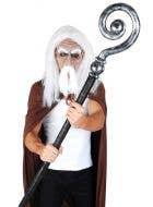 Fantasy Silver Wizard Staff Accessory