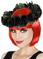 Gothic Black Floral Costume Crown