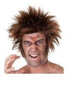 Werewolf Adult's Halloween Costume Wig with Side Burns