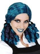 Dead Doll Curly Blue Costume Wig
